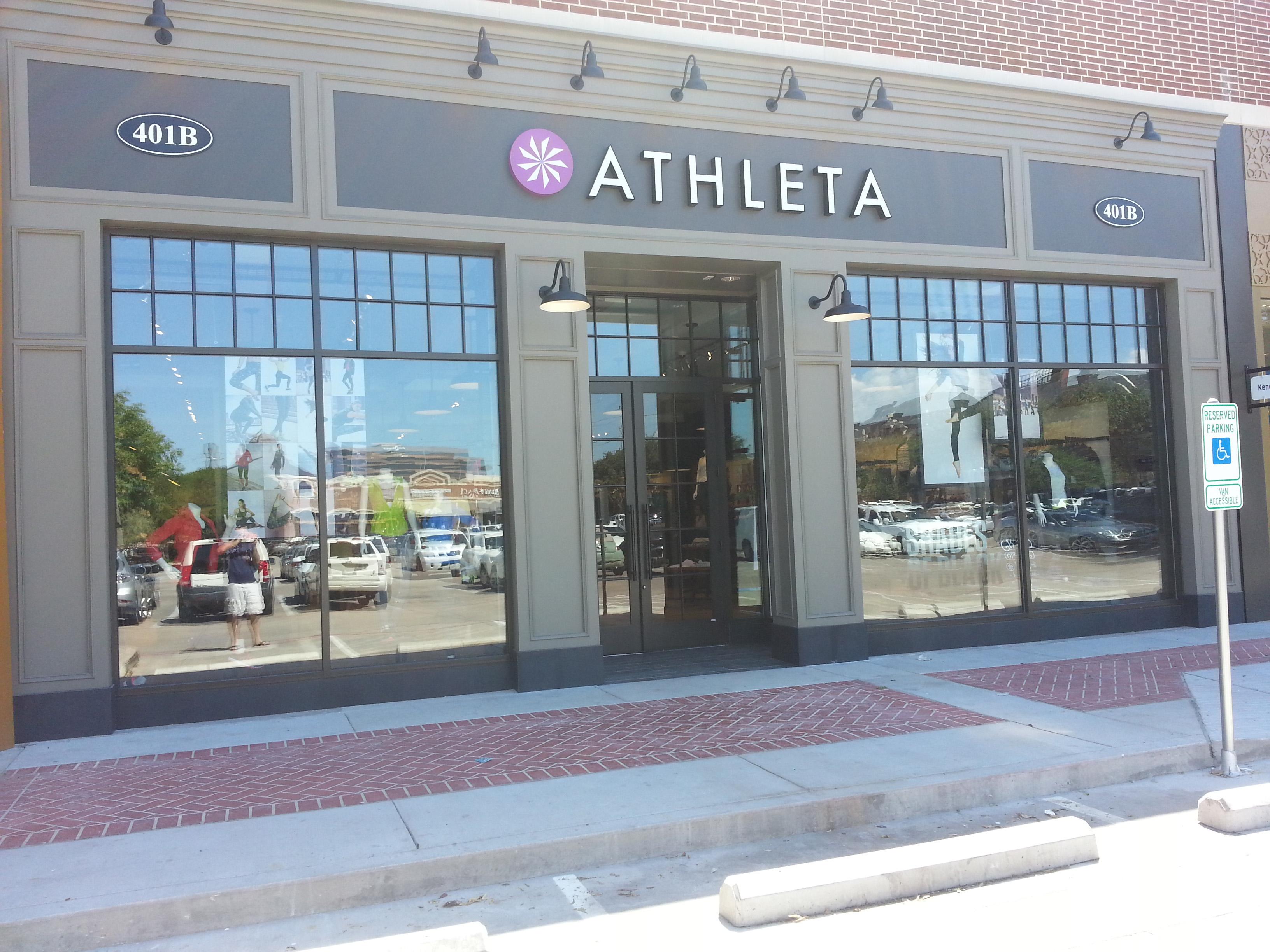 Reflective window film work for Athleta