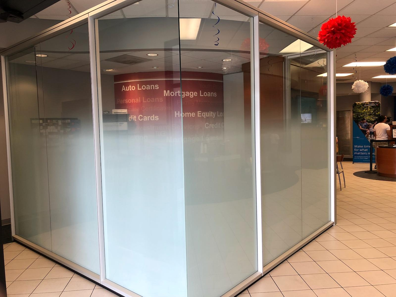 Gradient window tinting for office