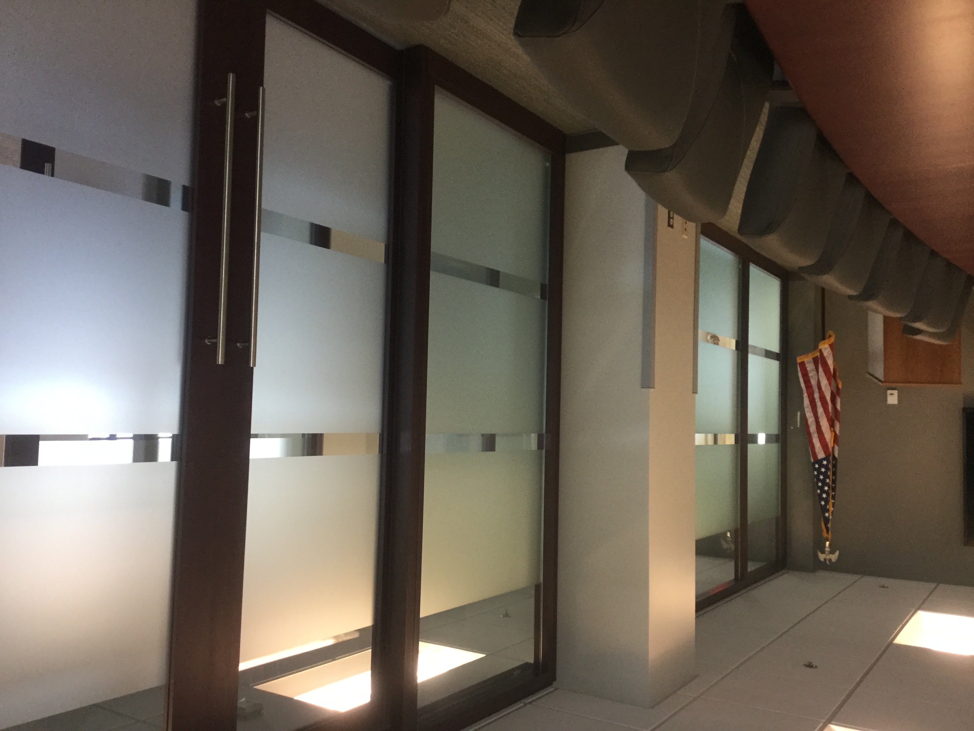 Window tinting work for meeting space in offices