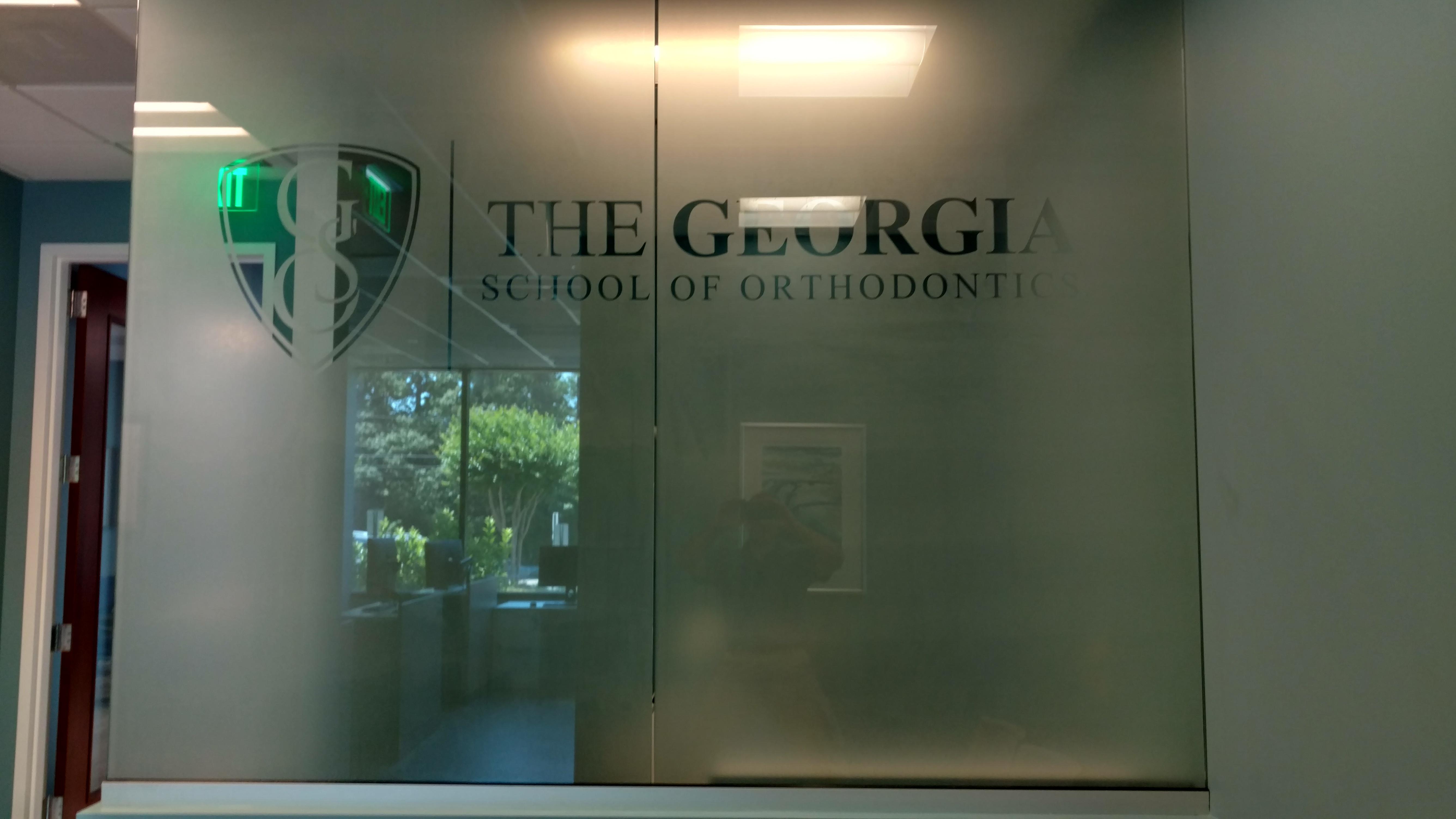 Window film for The Georgia School of Orthodontics