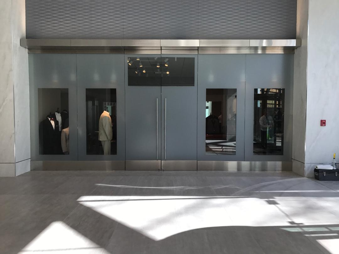 Window film design for commercial business property
