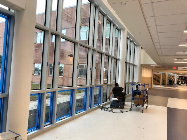 Finalizing our window film installation