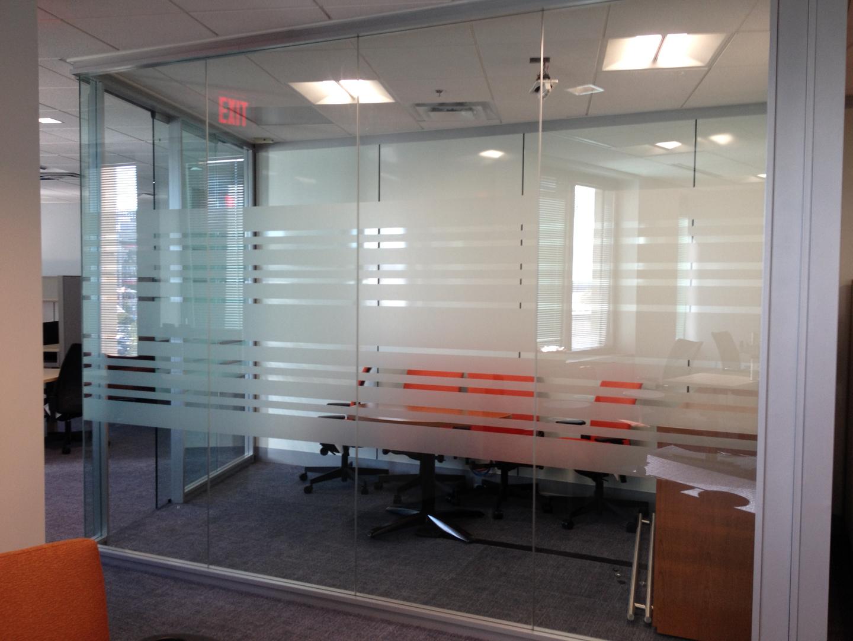 Window film work on office area