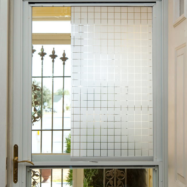 Frosted squares window film